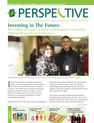 Perspective Newsletter: Spring 2011 - Ontario College of Social ...