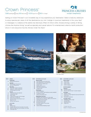 Crown Princess® - Ask Mr. Cruise
