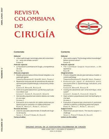 No. 2. Abril - Junio - Asociación Colombiana de Cirugía