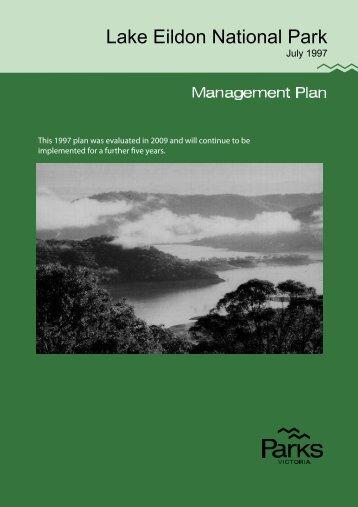 Lake Eildon National Park Management Plan 1997 - Parks Victoria