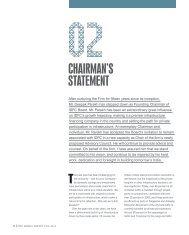 CHAIRMAN'S STATEMENT - IDFC