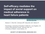 Self-efficacy mediates the impact of social support on medical ...
