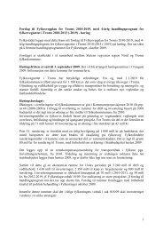 Fylkesvegplan 2010-2019, Handlingsprogram - Troms fylkeskommune