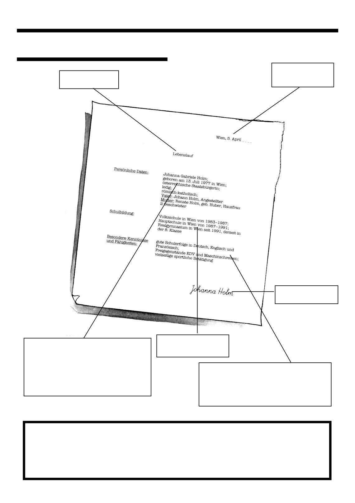 Berühmt Arbeitsblatt Für Den Lebenslauf Des Studenten Ideen - Entry ...