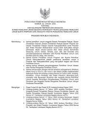 peraturan pemerintah republik indonesia nomor 62 tahun 2003 ...