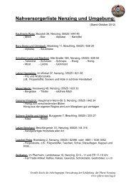 Nahversorgerliste Nenzing und Umgebung: - Marktgemeinde Nenzing