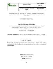 INFORME DE AVANCE - Agronet