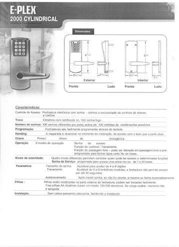 E-PLEX 2000 CYLINDRICAL.pdf - Kaba do Brasil LTDA