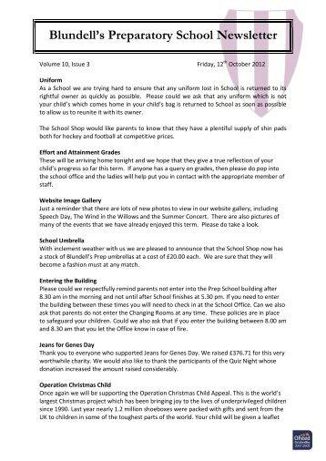 Newsletter 143 - Blundell's School