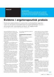 [pdf] Evidens i ergo terapeutisk praksis