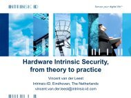 Hardware Intrinsic Security, from theory to practice