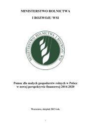 Pomoc dla małych gospodarstw rolnych w Polsce w nowej ...