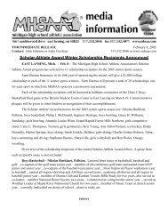 Scholar-Athlete Award Winter Scholarship Recipients Announced