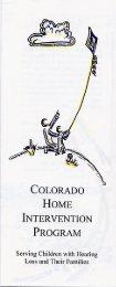 Colorado Home Intervention Program