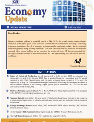 Economy Update 9-15 July 2012 - CII