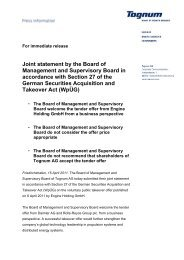 Joint statement by the Board of Management and ... - Investoren