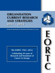 organisation current research and strategies 2011 - 2012 - eortc