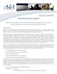 Affordable Defense Logistics - Aerospace Industries Association