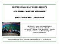 CENTRE DE VALORISATION DES DECHETS CITE SOLEIL ...