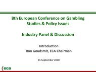 Ron Goudsmit, European Casino Association (ECA)