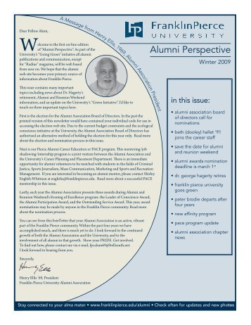 Alumni Perspective - Franklin Pierce University
