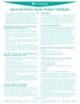 spectrum choice Bonus product Highlights - Business Underwriters ... - Page 3