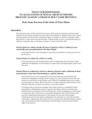 Policy for Responding to Allegations of Sexual Abuse of Minors ...