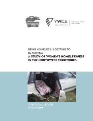 A STUDY OF WOMEN'S HOMELESSNESS IN THE ... - YWCA Canada