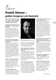 Fredrik Simson – - Folkuniversitetet
