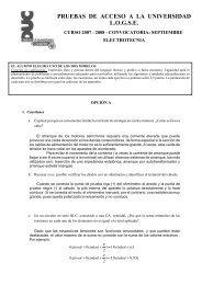 PRUEBAS DE ACCESO A LA UNIVERSIDAD L.O.G.S.E. - ULPGC