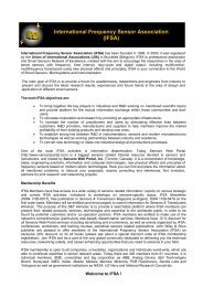 IFSA Membership Form - International Frequency Sensor Association
