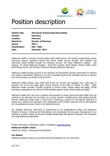 Position description - Job Register