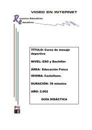 TÍTULO: Curso de masaje deportivo NIVEL: ESO y ... - Navarra