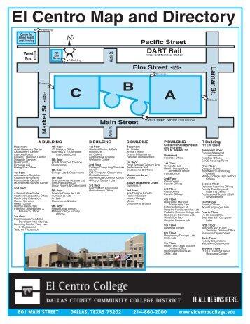 El Centro Map and Directory - El Centro College