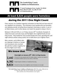 Family and Child Homelessness Fact Sheet - Seattle/King County ...