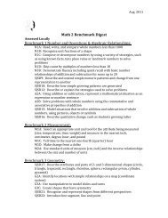 Math 2 Benchmark Digest Benchmark 1 Number ... - SJSD Home Page