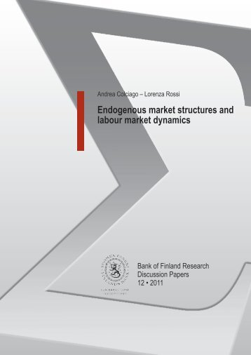 Endogenous market structures and labour market dynamics
