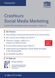 Crashkurs Social Media Marketing - Promomasters