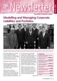 Newsletter March 2006.pdf - Society of Actuaries in Ireland