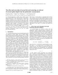 The effect and correction of aerosol forward scattering on retrieval of ...