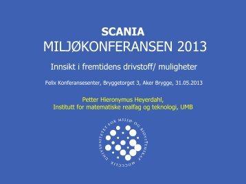 Petter H. Heyerdahl: Innsikt i fremtidens drivstoff - Scania