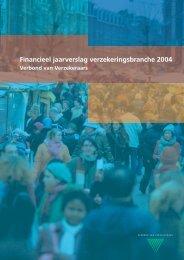 Financieel jaarverslag verzekeringsbranche 2004 - Verbond van ...