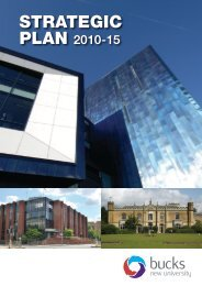 Bucks strategic plan A4 External - Buckinghamshire New University
