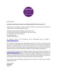 December 2012 Information about being a trustee of the Edinburgh ...