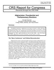 Afghanistan: Presidential and Parliamentary Elections - PARDS