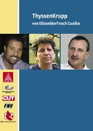 ThyssenKrupp von Düsseldorf nach Guaíba - Nord-Süd-Netz