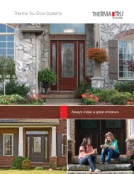 Always Make a Great Entrance - Therma-Tru Doors