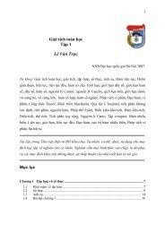 Giải tích toán học Tập 1 Lê Văn Trực - Đại học Duy Tân