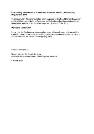 (Wales) (Amendment) - Cynulliad Cenedlaethol Cymru