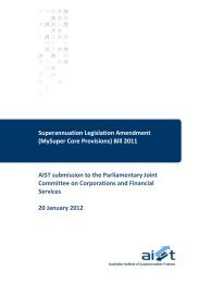 Read more - Australian Institute of Superannuation Trustees